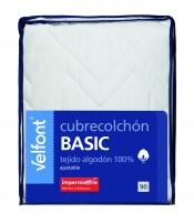 Cubrecolchon Basic Impermeable  80 cm Velfont