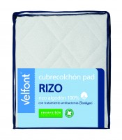 Cubrecolchon Pad Rizo reversible 150 cm Velfont